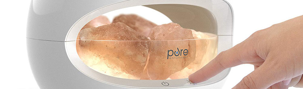 Pure Enrichment PureGlow Crystal Himalayan Salt Lamp/Diffuser