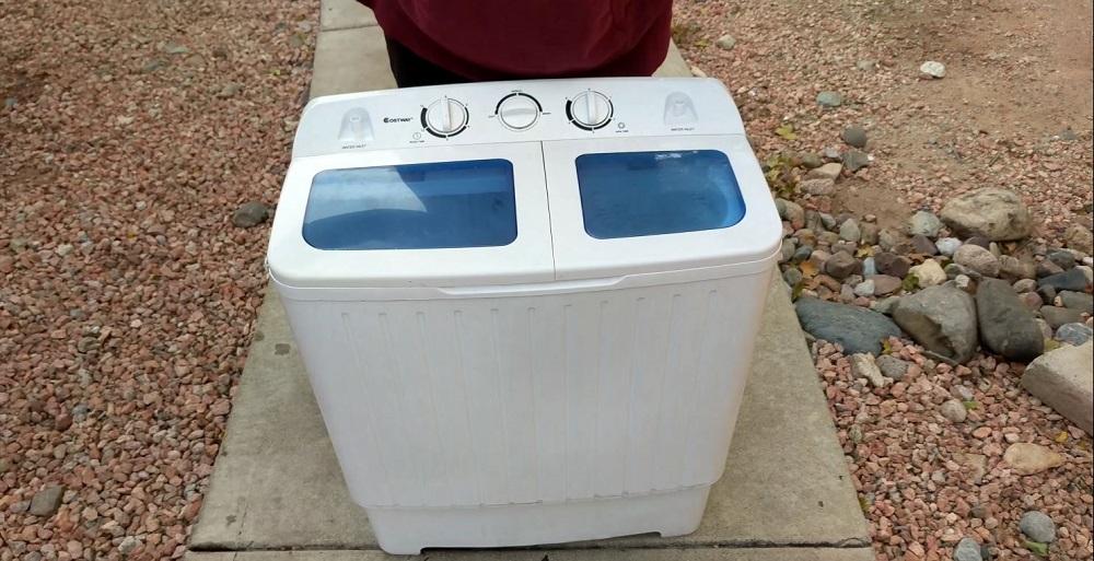 Giantex Portable Mini Compact Twin Tub Washing Machine 17_6lbs